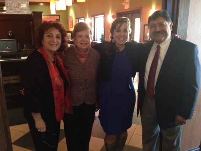 With my wonderful friend, Lidia, and President of La Mesa Espanola, Luis Perez