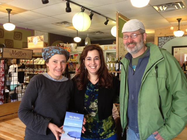 With Kristina and Rob, owners of the Village Bakery - during My Sicily booksigning