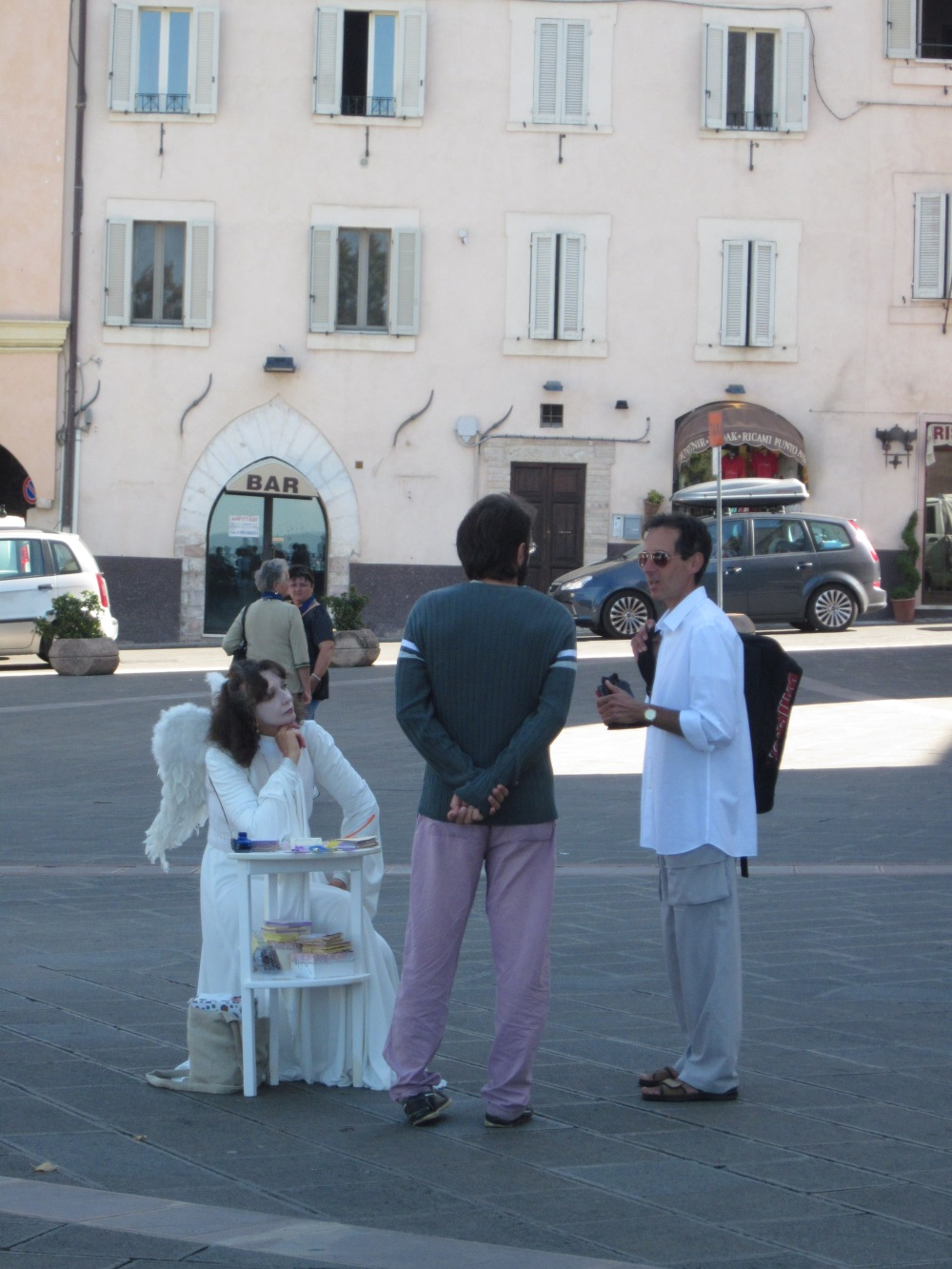The Angel I met in Assisi (wings included)  --Copyright  Francesca Mignosa 2013